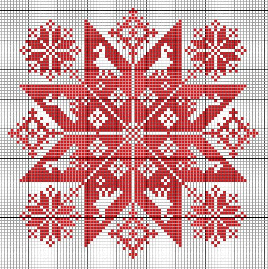 There's nothing better than a fractal to stitch! This is based on Hungarian designs.