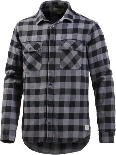 Billabong ALL DAY. Kariertes Hemd aus weichem Flanell durchgehend geknöpft, mit 2 Brusttaschen und Manschettenärmeln Label-Patch am Saum