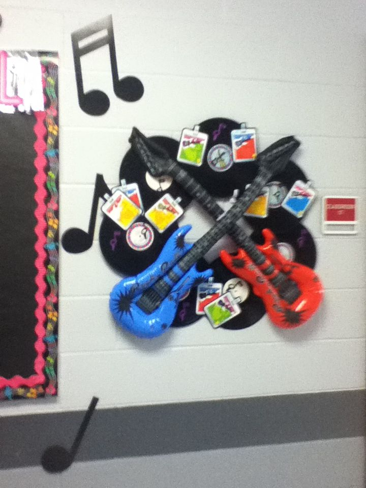 Rock and roll wreath--