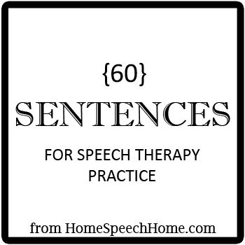 Many, many phonemes; also sentences for Speech Therapy Practice. Repinned by SOS Inc. Resources pinterest.com/sostherapy/.