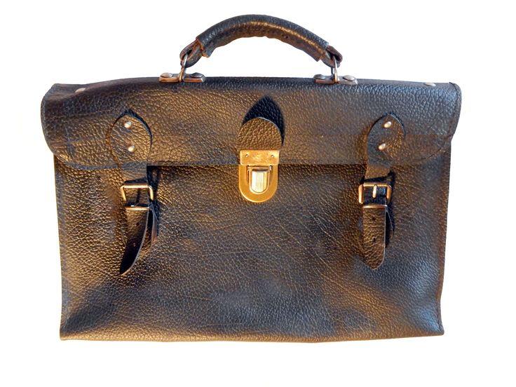 Cartella scolastica in cuoio anni '40 (Schoolbag 1940s)