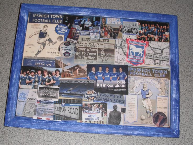 Decoupage tray for a football lover!