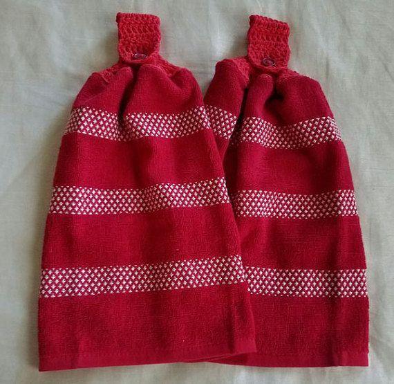Crochet Kitchen Towel SetCrochet Top by RenegadesCreations on Etsy