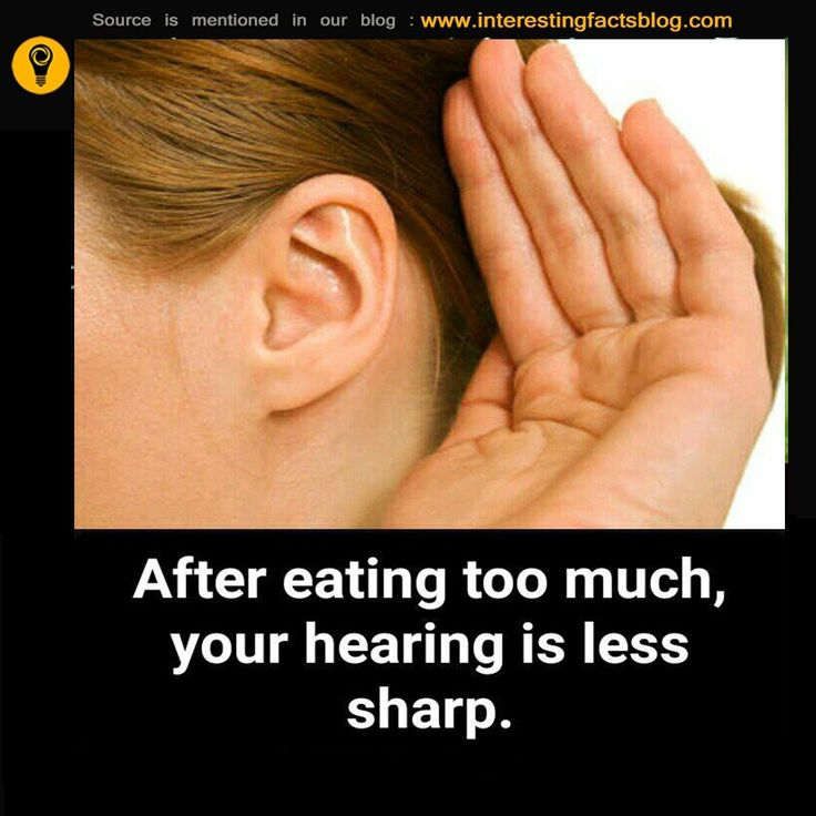 After Eating Too Much, Your Hearing Is Less Sharp