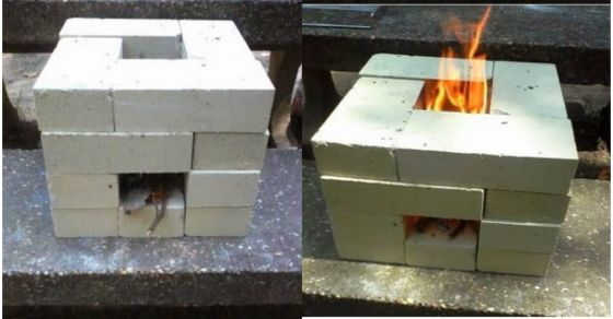 How To Build A 16 Brick Rocket Stove For Around 6 Dollars -