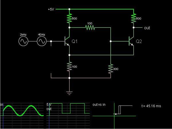 Schmitt Trigger (with transistors)