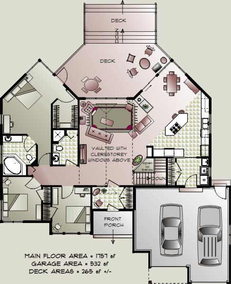 Bungalow house plans home concepts energy efficient for Small retirement house plans