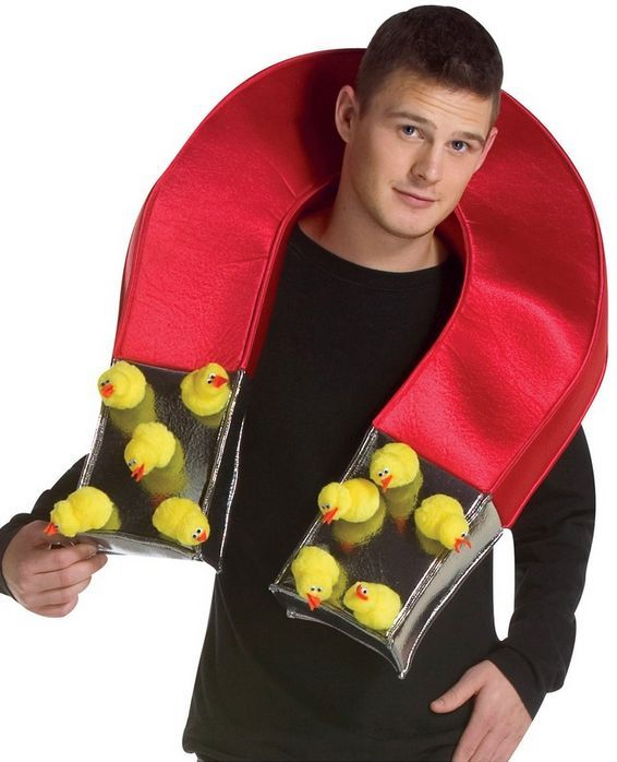 Chick Magnet - You have to be cocky to meet your hen - funny mens halloween costumes - Click for loads more costumes! DIY
