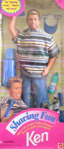 "Barbie Shaving Fun KEN Doll w ""Magic"" Color Change Beard & Accessories (1994) Barbie http://www.amazon.com/dp/B003DR5J7Q/ref=cm_sw_r_pi_dp_0zccwb1Z0VK37"