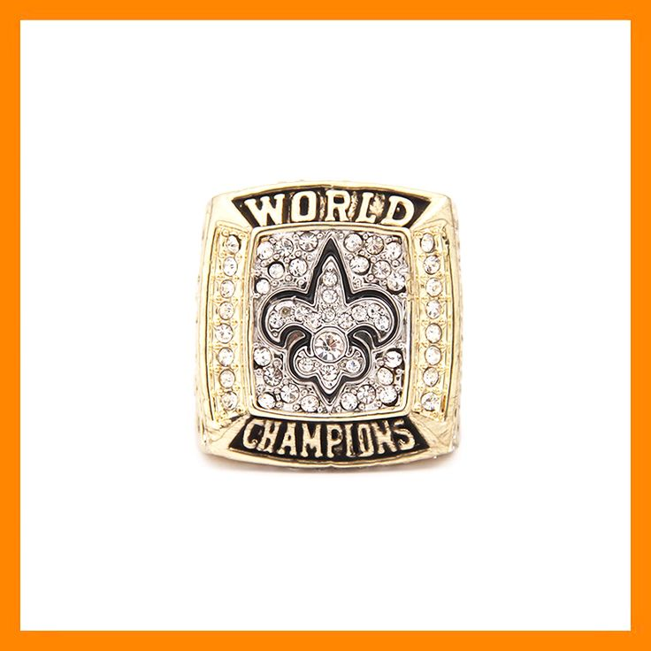 High Quality 2009 New Orleans Saints Replica Super Bowl Championship Ring for Fans From Size 8 to 14 www.bernysjewels.com #bernysjewels #jewels #jewelry #nice #bags