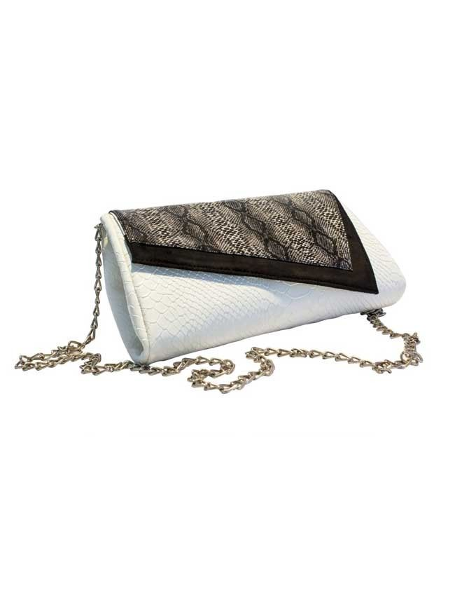 Tilted - Assymetrical Snakeskin Purse