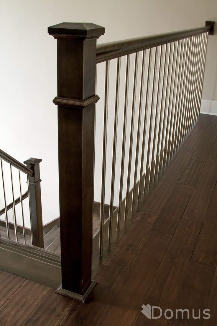 Contemporary Staircase With RPL Posts And Stainless Spindles Staircases Stair Railing Home
