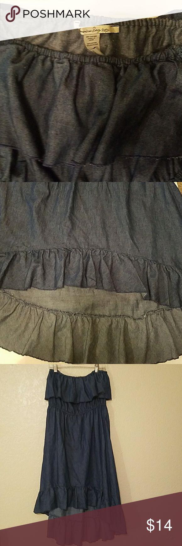 American Rag Strapless dress Lightweight High Low Strapless dress by American Rag65%cotton 35%polyester high low dress American Rag Dresses High Low