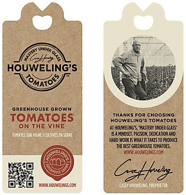hang tag / Houweling's Tomatoes #tag #design #packaging