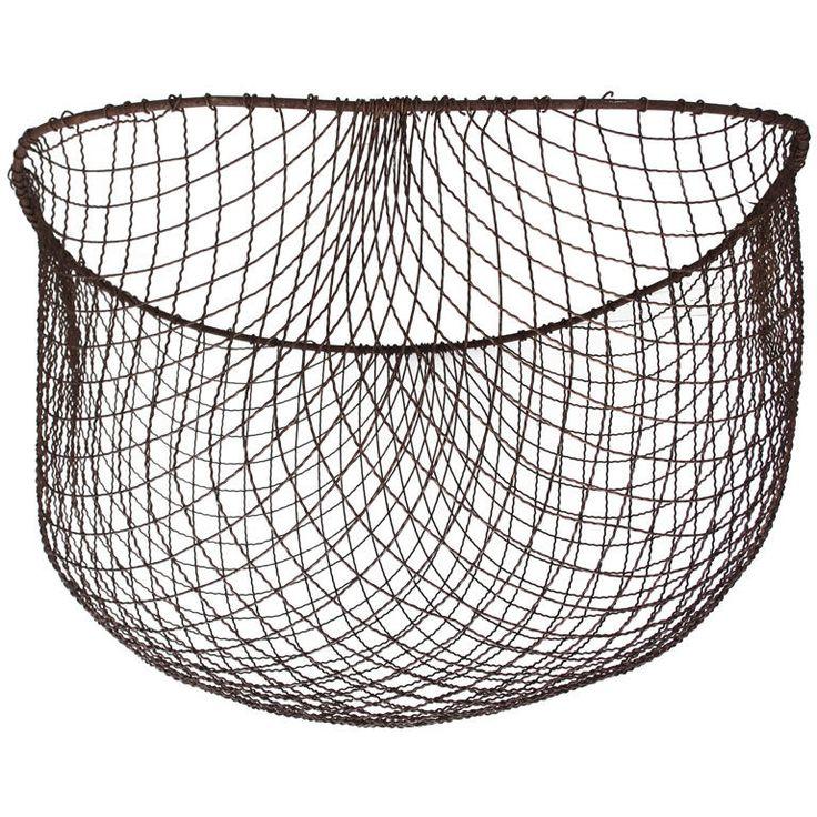 vintage seafood wire basket