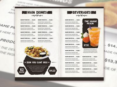 120 best Food/Drink Menu Design Inspiration images on Pinterest ...