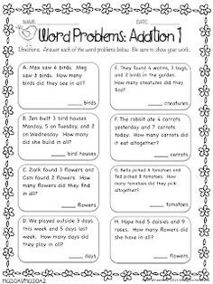 word problems on addition and subtraction for grade 2 - Google Search