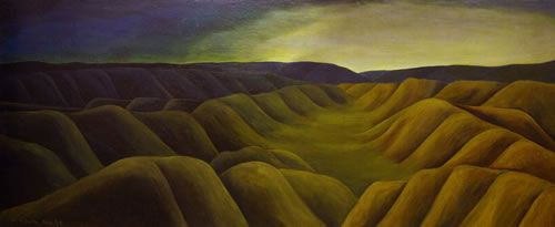 Colin McCahon,Takaka: night and day, 1948