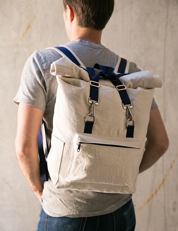 Sewing world, meet The Desmond roll top backpack! It's finally here and I am beyond thrilled to be releasing my first pattern! The pattern is currently available as a PDF download in my shop. The Desm