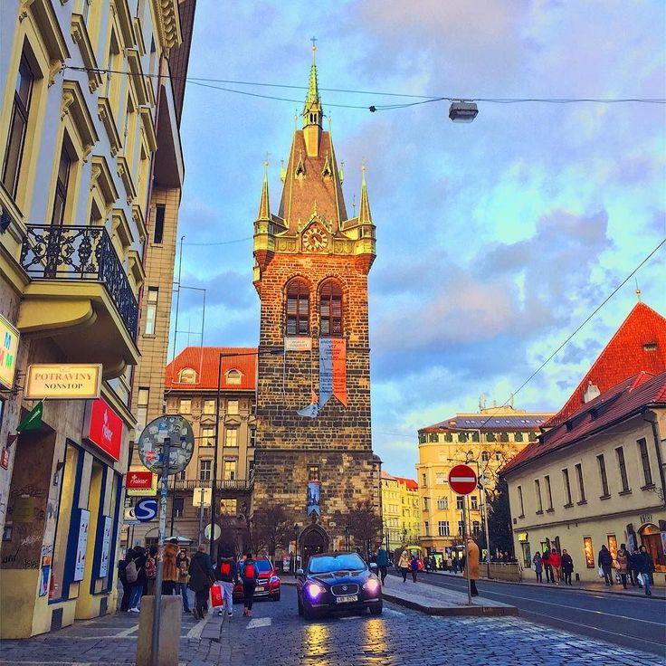 Centre of Prague before sunset  Centrum Prahy pred zapadem slunce