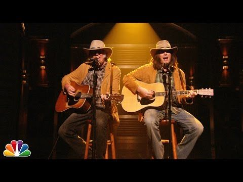Neil Young and Jimmy Fallon (as Neil Young) Perform 'Old Man' on Tonight Show