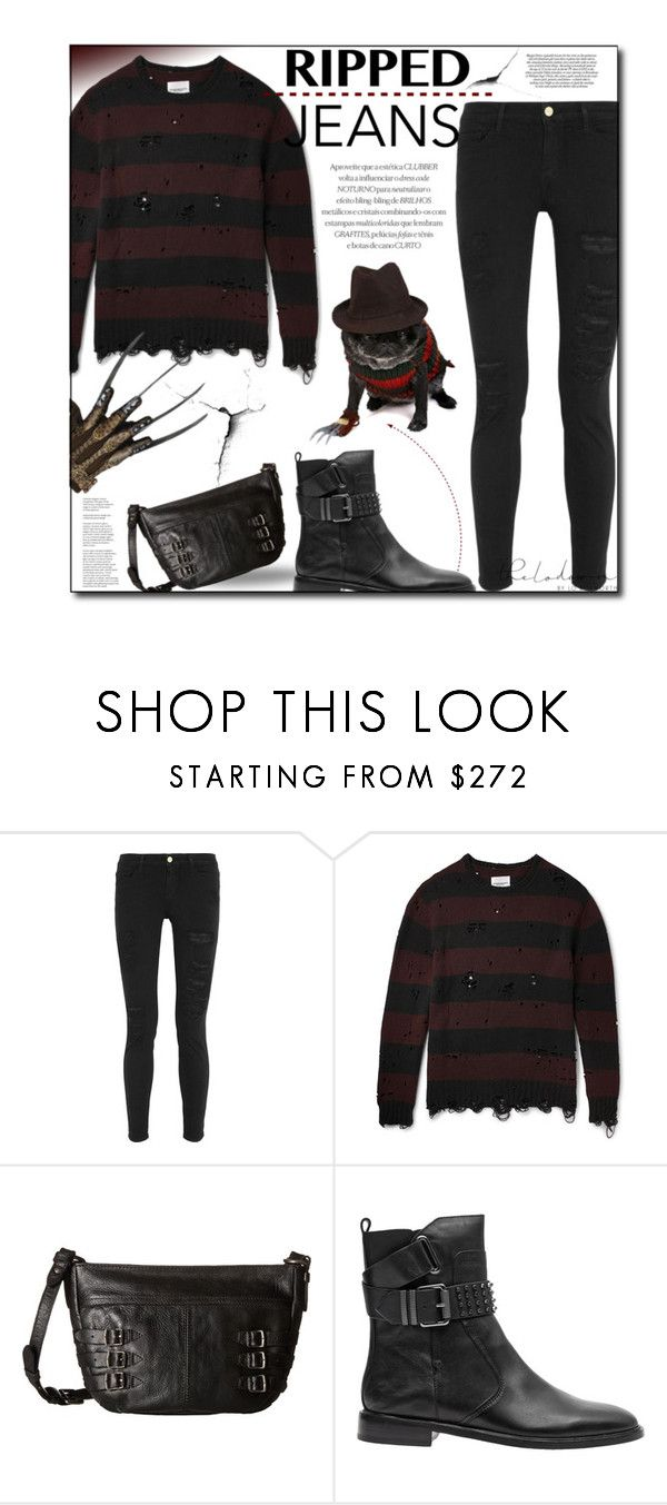 """In Pieces"" by sherieme ❤ liked on Polyvore featuring Frame, Freddy, Takahiromiyashita The Soloist and Frye"