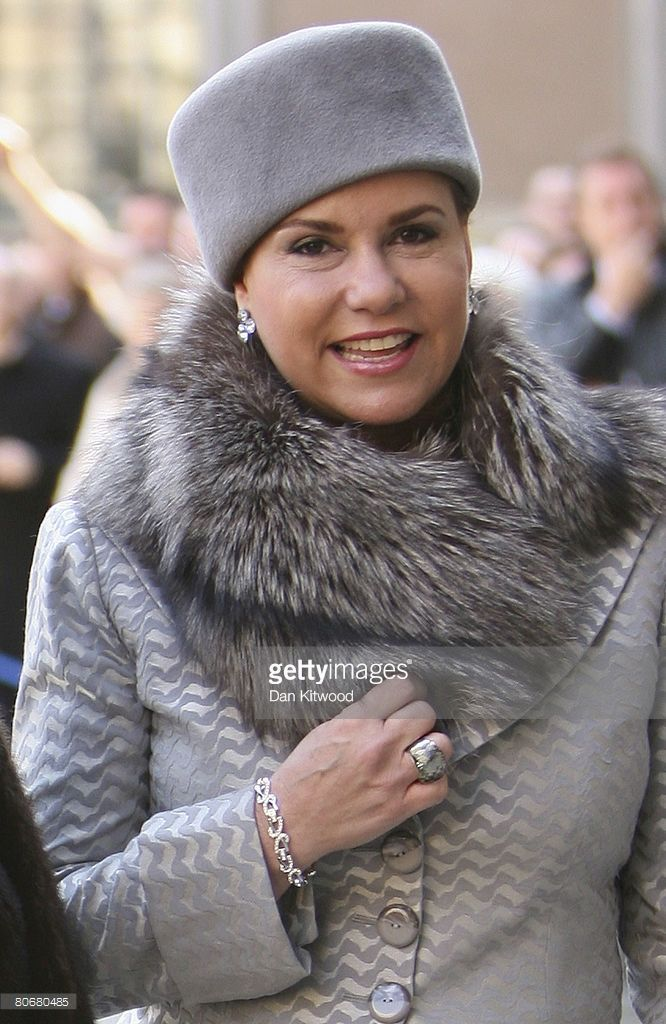 Grand Duchess Maria Teresa of Luxembourg arrives at the Royal Palace on the first day of a three day state visit to Stockholm on April 15, 2008 in Stockholm, Sweden  (Photo by Dan Kitwood/Getty Images)