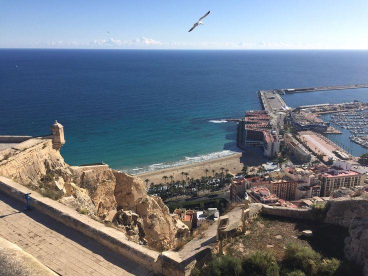 View atop the Castillo de Santa Barbara in Alicante Spain http://ift.tt/2AVNPfn