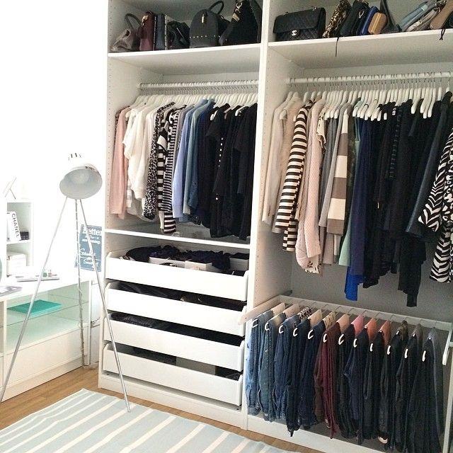 21 besten kleiderschrank Bilder auf Pinterest Ankleidezimmer - schlafzimmer begehbarer kleiderschrank