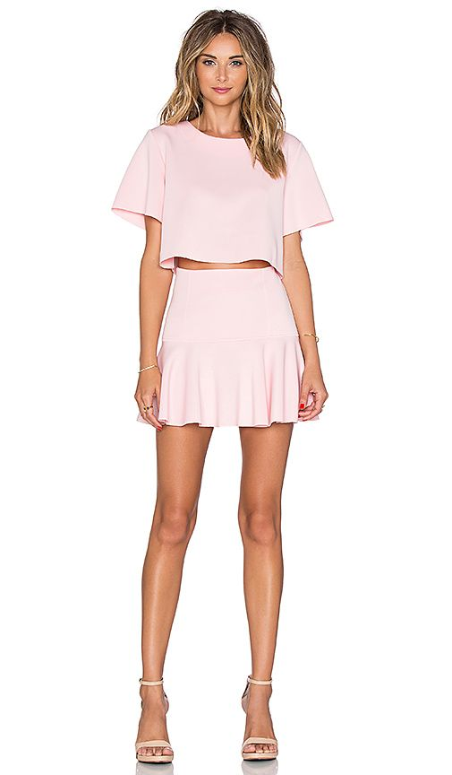 Shop for Toby Heart Ginger Set Me Up Top & Skirt Set in Baby Pink at REVOLVE