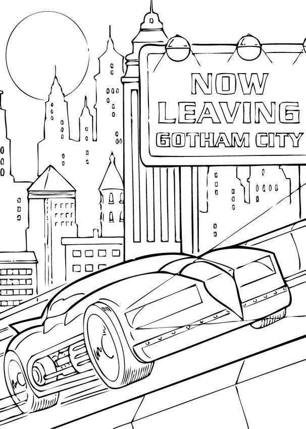 Welcome To Batman Coloring Pages Enjoy The Batmobil In Gotham City Page On