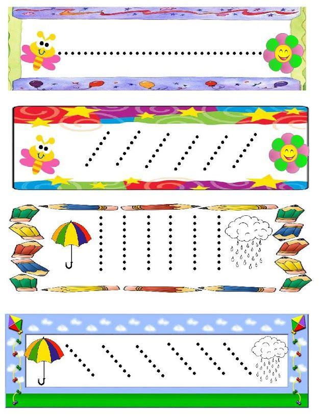 Schrijfpatroon voor kleuters / Dibujo