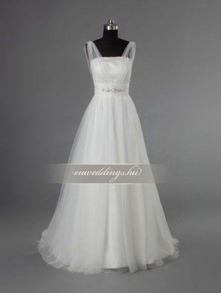 Menyasszonyi ruha A vonalú pántos-AVP-1053 1