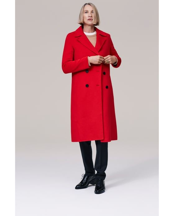 Image 1 of LONG CROSSOVER COAT from Zara