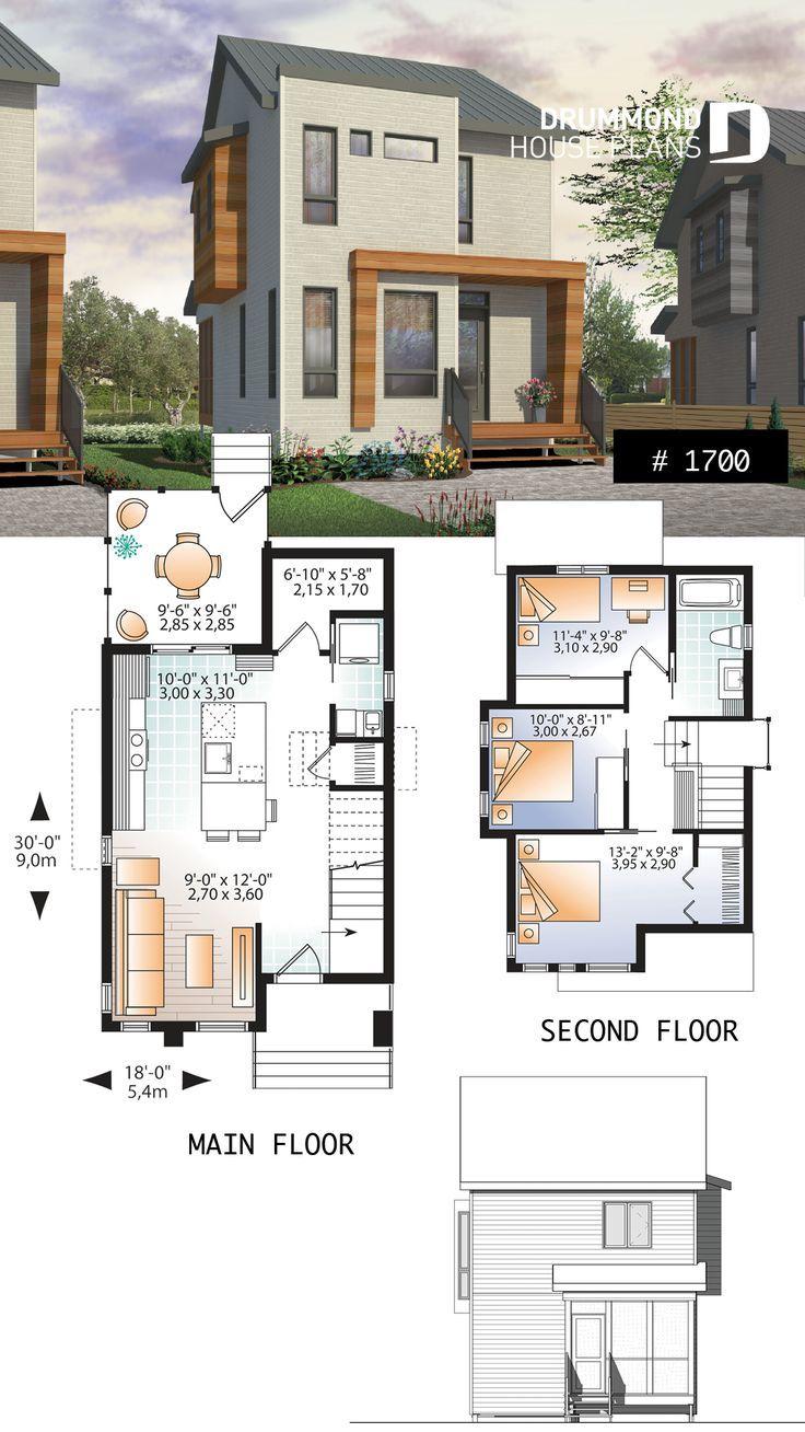 Komfortabel Und Klein 976 Sq Ft Winziger Hausplan 3 Schlafzimmer Offener Grundr We Top Deko Architecture House Small House Floor Plans Small House Design