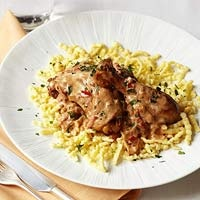 Chicken Paprikash with Spaetzle from Family Circle April 2012
