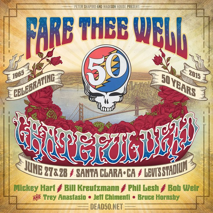 Relix is Giving Away 2 GA Tickets to Both Nights of Fare Thee Well Santa Clara, CA