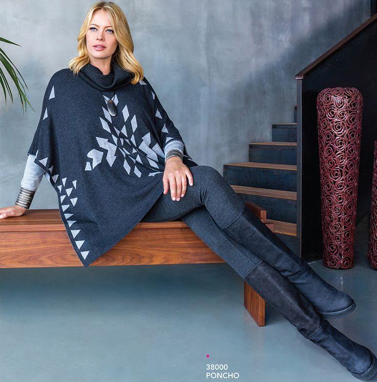 #Poncho, moda invernale