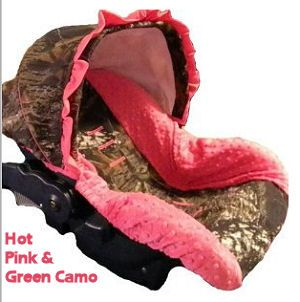 Mossy Oak Realtree Camo Baby Car Seat Cover With Hot Pink