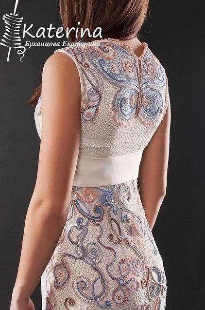 back of irish lace dress