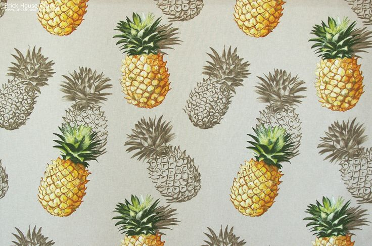 We have a NEW Pineapple Fabric! - A tropical pineapple fabric. This tropical fabric makes a bold statement with life size pineapples. A fun fabric for tropical decor :   #tropical #pineapple #fabric #sewing #diy #homedec #decor #decorating #fun #festive #happy #interior #design