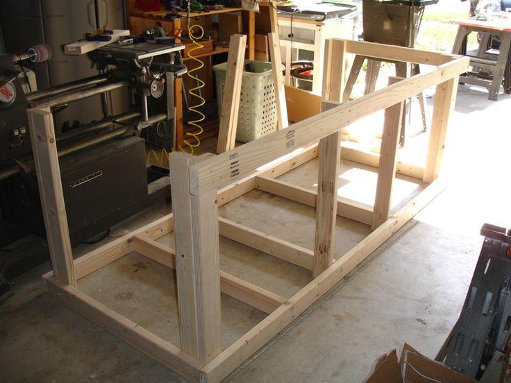 Backyard workshop ultimate workbench workbench for Backyard shop plans