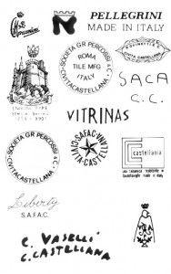 марки и клейма итальянская керамика CIVITA CASTELLANA 3