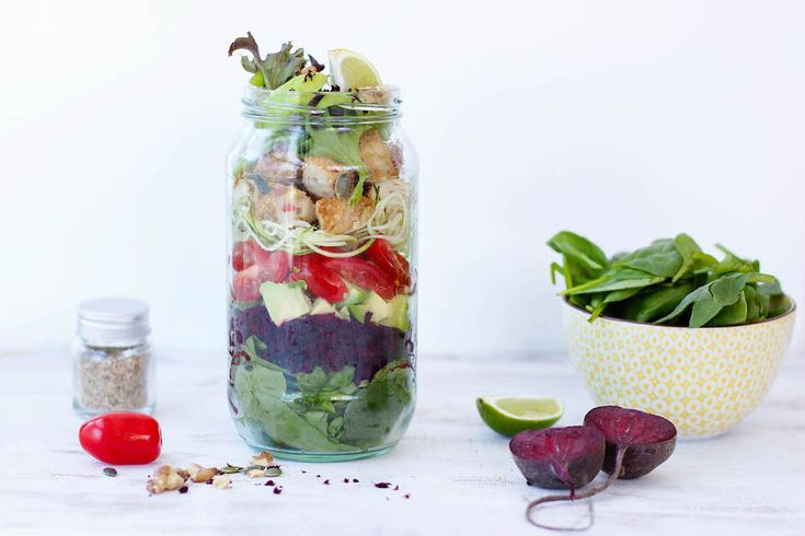How to make Mason Jar Salads - The Fit Foodie
