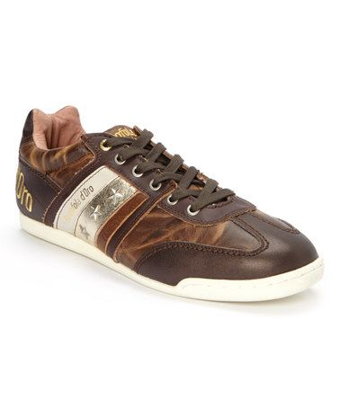 Brown Tre Stelle Leather Sneaker by Pantofola d'Oro #zulily #zulilyfinds