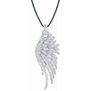 White diamond articulated angel wing by Pippo Perez