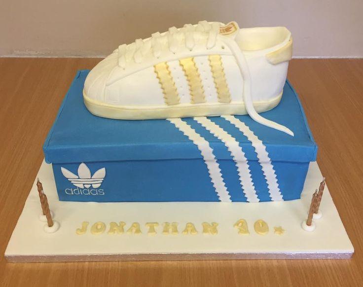 Adidas trainer on Adidas shoebox