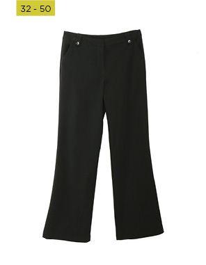 black bootleg pants