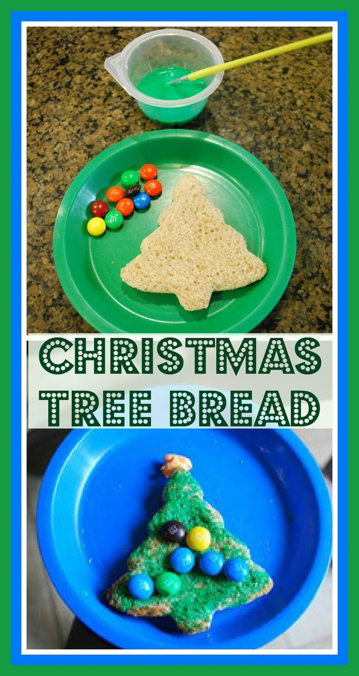 Christmas Tree Bread - easy kids snack recipes