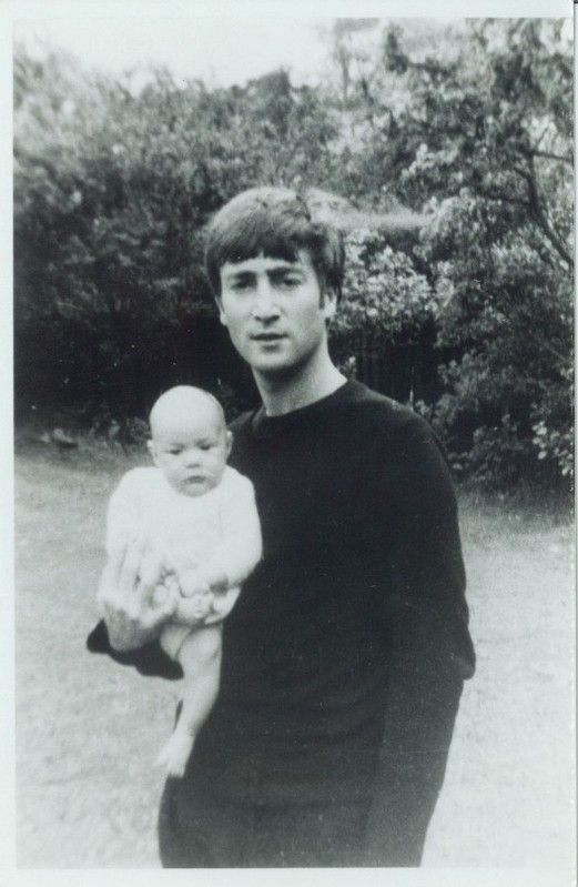 pinterest beatles george and john and wives | John Lennon and Julian Lennon . More pictures in the slideshow at the ...